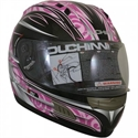Picture of DUCHINNI D701 - 54 (XS)  PINK/SILVER FULL FACE HELMET