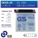 Picture of CB10LA2 GS BATTERY