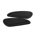 Picture of FUEL TANK KNEE PADS - BLACK PINSTRIPE
